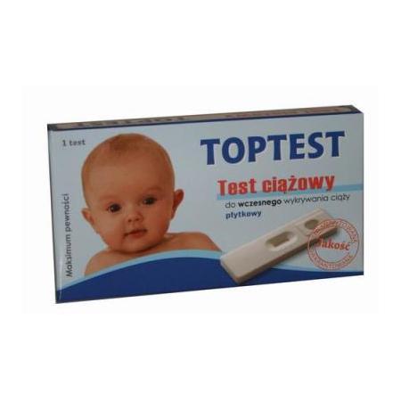 Toptest, test ciążowy płytkowy marki AmeriTek - zdjęcie nr 1 - Bangla