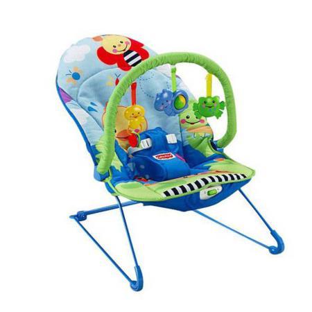 Leżaczek z zabawkami, różowy lub niebieski, M7344 marki Fisher-Price - zdjęcie nr 1 - Bangla