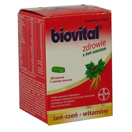 Biovital Zdrowie z żeń-szeniem, tabletki marki Bayer - zdjęcie nr 1 - Bangla