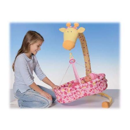 CHOU CHOU Łóżeczko Żyrafka 2 w 1 dla lalki marki Zapf Creation - zdjęcie nr 1 - Bangla