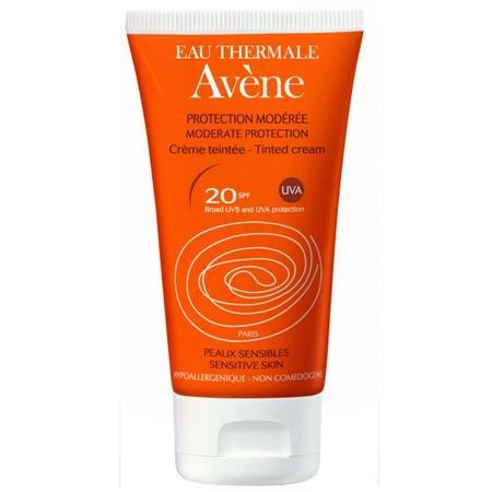 Protection Moderee Creme Teintee SPF 20, sensitive skin, Krem koloryzujący z umiarkowaną ochroną przeciwsłoneczną marki Avene - zdjęcie nr 1 - Bangla