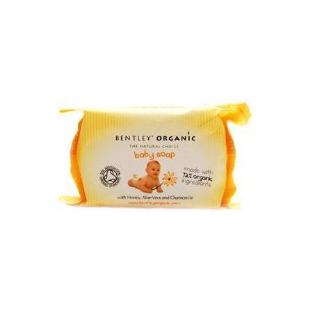 Baby Soap, Organiczne mydło dla niemowląt z miodem, rumiankiem i aloesem marki Bentley Organic - zdjęcie nr 1 - Bangla