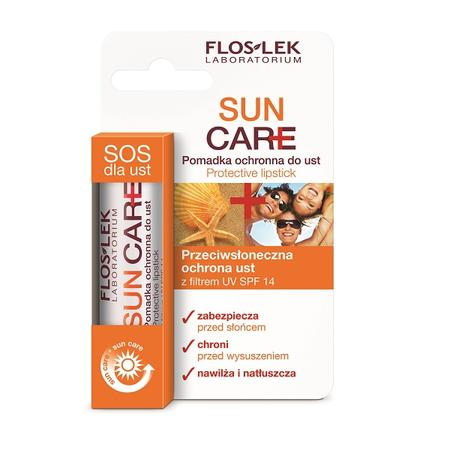 Sun Care, Pomadka ochronna do ust z filtrem UV marki FlosLek - zdjęcie nr 1 - Bangla