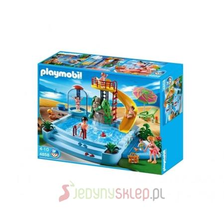 Basen Odkryty Ze Zjeżdżalnią, 4858 marki Playmobil - zdjęcie nr 1 - Bangla