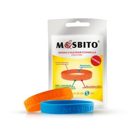 Mosbito, silikonowa opaska na nadgarstek z olejkiem Citronella marki Verco - zdjęcie nr 1 - Bangla