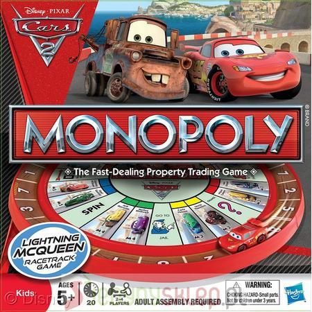 Cars 2 Monopoly 27810 marki Hasbro - zdjęcie nr 1 - Bangla
