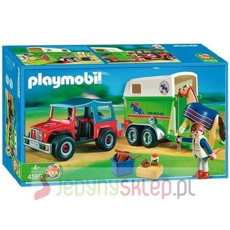 Samochód Z Przyczepą Dla Koni, 4189 marki Playmobil - zdjęcie nr 1 - Bangla