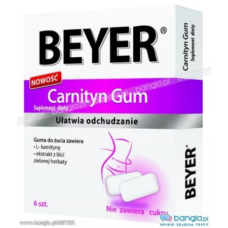 Carnityn Gum, guma do żucia zawierająca L-karnitynę marki Beyer - zdjęcie nr 1 - Bangla