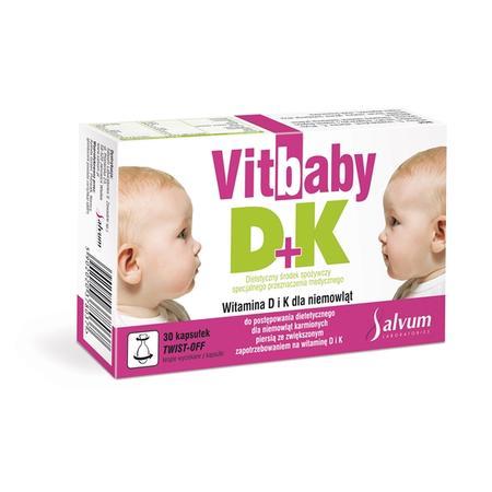 Vitbaby D + K 30, kapsułki twist-off marki Salvum - zdjęcie nr 1 - Bangla