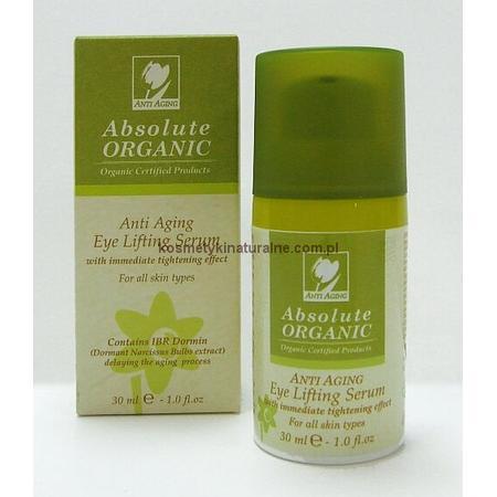 Anti Aging Eye Lifting Serum, Organiczne przeciwzmarszczkowe serum liftingujące pod oczy marki Absolute Organic - zdjęcie nr 1 - Bangla