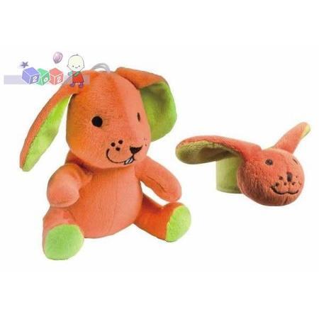 Zabawka pluszowa z pozytywką + grzechotka na rączkę, 67/001; 67/002; 67/003; 67/004 marki Canpol babies - zdjęcie nr 1 - Bangla
