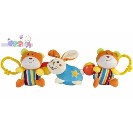 Zabawka pluszowa do wózka Królik z misiami, 9/906, Królik z małpkami 9/905 marki Canpol babies - zdjęcie nr 1 - Bangla
