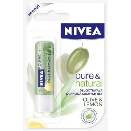 Pure & Natural, Lip Care Olive i Lemon, Pomadka ochronna marki Nivea - zdjęcie nr 1 - Bangla
