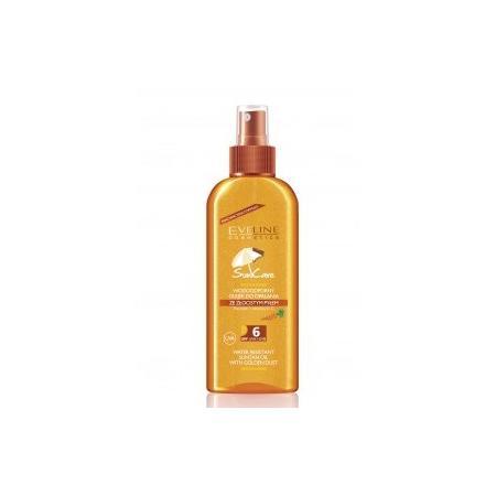 Sun Care, Wodoodporny Olejek do opalania ze złocistym pyłem SPF6 marki Eveline Cosmetics - zdjęcie nr 1 - Bangla