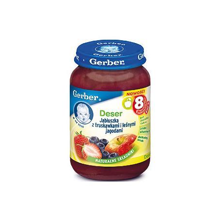 Deser jabłuszka z truskawkami i leśnymi jagodami marki Gerber - zdjęcie nr 1 - Bangla