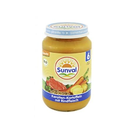 Danie dla dzieci Marchew i Ziemniaczki z wołowiną marki Sunval - zdjęcie nr 1 - Bangla