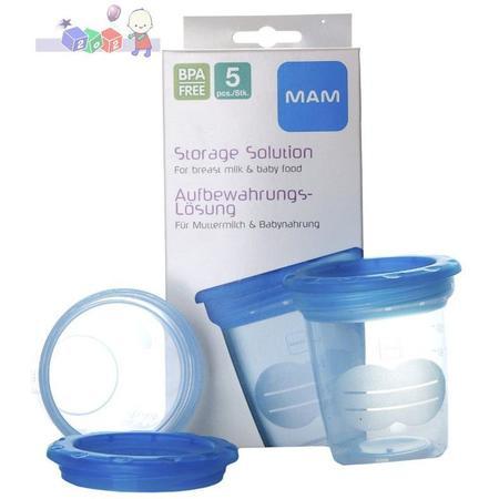 Plastikowe pojemniki na pokarm marki MAM baby - zdjęcie nr 1 - Bangla