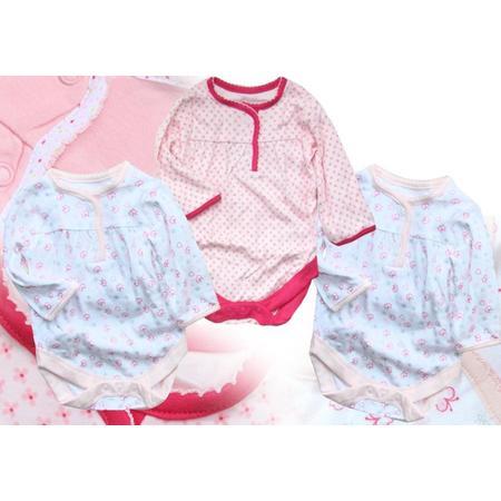 Body dziewczęce z długim rękawkiem, trzypak marki Mothercare - zdjęcie nr 1 - Bangla