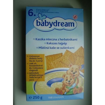 Babydream, Kaszka mleczna z herbatnikami marki Rossmann - zdjęcie nr 1 - Bangla