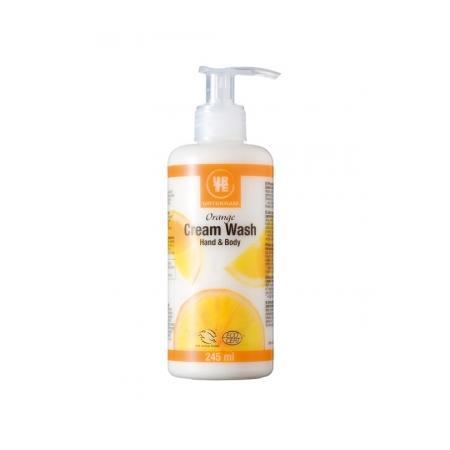 Orange Cream Wash, Kremowe mydło w płynie pomarańczowe marki Urtekram - zdjęcie nr 1 - Bangla