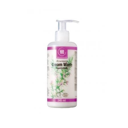 Rosemary Cream Wash, Kremowe mydło w płynie rozmarynowe marki Urtekram - zdjęcie nr 1 - Bangla