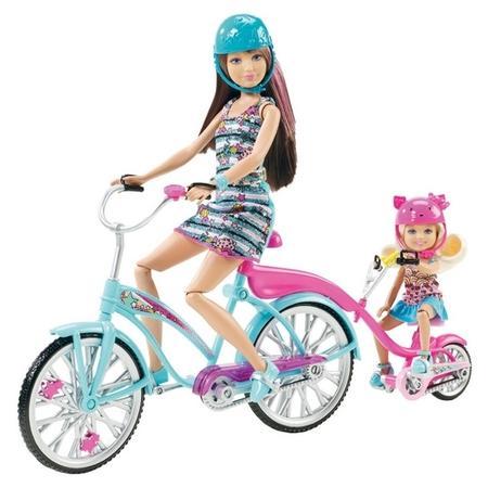 Barbie Dwuosobowy Rower Kempingowy V3131 marki Mattel - zdjęcie nr 1 - Bangla