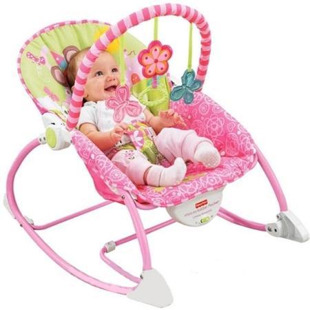 Różowy Leżaczek-bujaczek, W5537 marki Fisher-Price - zdjęcie nr 1 - Bangla