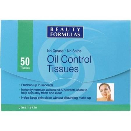 Oil Control Tissues, Bibułki matujące marki Beauty Formulas - zdjęcie nr 1 - Bangla