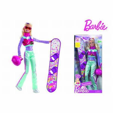 Barbie Na Snowbordzie T2690 marki Mattel - zdjęcie nr 1 - Bangla
