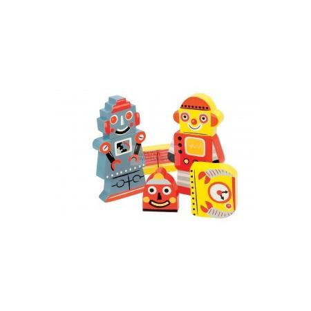 Układanka 3D roboty lub laleczki marki Janod - zdjęcie nr 1 - Bangla