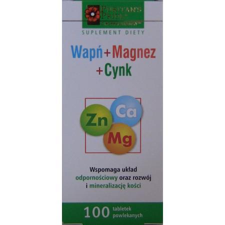 Ca + Zn + Mg, Wapń + Magnez + Cynk, tabletki marki Puritans Pride - zdjęcie nr 1 - Bangla
