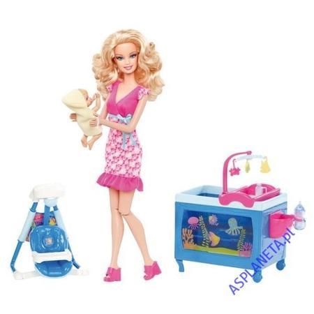 Barbie Niania, Opiekująca Się Niemowlęciem V6934 marki Mattel - zdjęcie nr 1 - Bangla