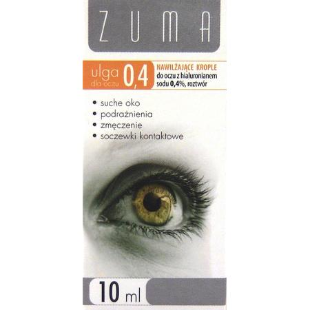 Zuma, ulga dla oczu 0,4% lub 0,2% krople nawilżające marki S-Lab - zdjęcie nr 1 - Bangla