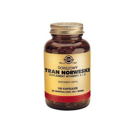 Dorszowy Tran Norweski, kapsułki marki Solgar - zdjęcie nr 1 - Bangla