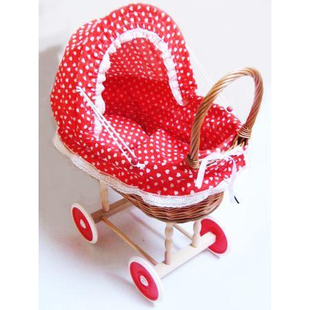 Wiklinowy wózek dla lalek marki różni producenci - zdjęcie nr 1 - Bangla