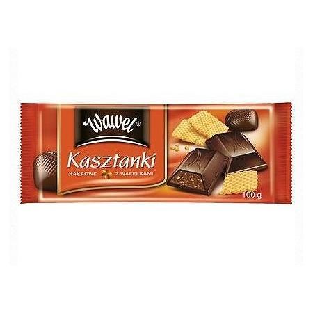 Kasztanki kakaowe z wafelkami, czekolada nadziewana marki Wawel - zdjęcie nr 1 - Bangla