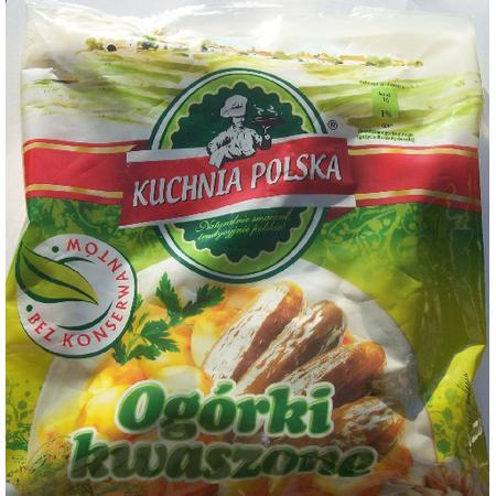 Kuchnia Polska, Ogórki kwaszone w woreczku marki Biedronka - zdjęcie nr 1 - Bangla