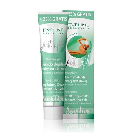 Just Epil, Sensitive,  Nawilżający krem do depilacji skóry wrażliwej marki Eveline Cosmetics - zdjęcie nr 1 - Bangla