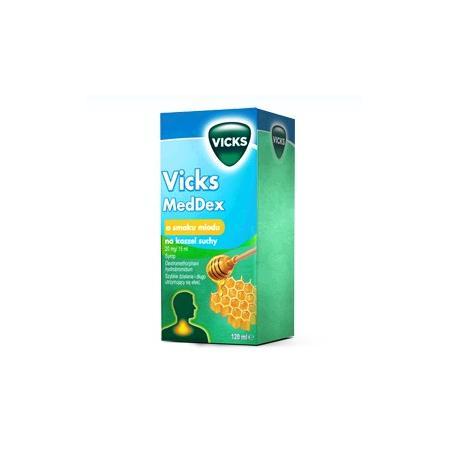 MedDex, Syrop o smaku miodu na kaszel suchy marki Vicks - zdjęcie nr 1 - Bangla