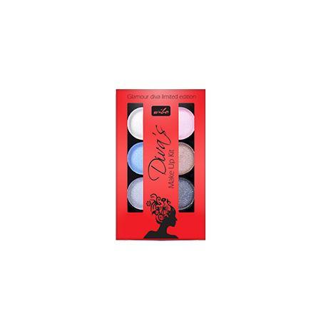Diva's Make Up Kit - zestaw sześciu metalicznych cieni do powiek marki Wibo - zdjęcie nr 1 - Bangla