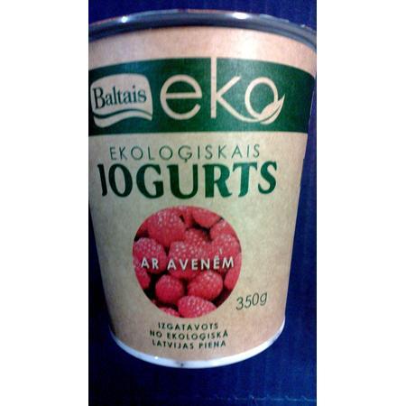 Eko, Ekologiskais Jogurts, Ekologiczny Jogurt z Malinami marki Baltais - zdjęcie nr 1 - Bangla