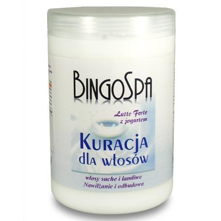 Latte Forte z Jogurtem, Kuracja do włosów z jogurtem i proteinami mlecznymi marki BingoSpa - zdjęcie nr 1 - Bangla