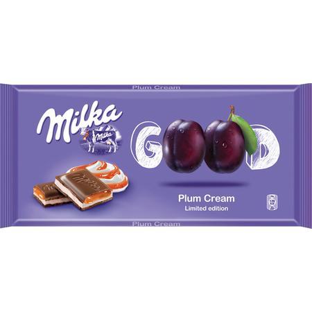Good Plum Cream, Czekolada mleczna z nadzieniem mlecznym i z nadzieniem śliwkowym marki Milka - zdjęcie nr 1 - Bangla