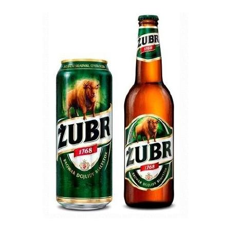 Żubr, Piwo jasne marki Kompania Piwowarska - zdjęcie nr 1 - Bangla