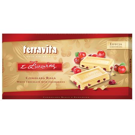 Czekolada Biała z Żurawiną marki Terravita - zdjęcie nr 1 - Bangla