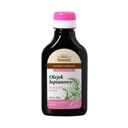 Olejek łopianowy ze skrzypem polnym przeciw wypadaniu włosów marki Green Pharmacy - zdjęcie nr 1 - Bangla