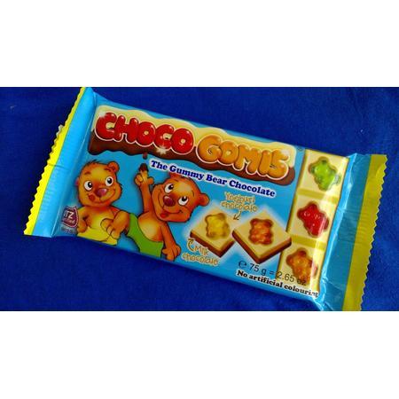 Choco Gomis, Czekolada pełnomleczna z białą czekoladą jogurtową i żelkami marki Rubezahl Schokoladen - zdjęcie nr 1 - Bangla