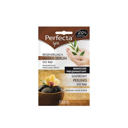 Perfecta SPA, Manicure Pielęgnacyjny, Szafirowy peeling + regenerująca maska - serum do rąk marki Dax Cosmetics - zdjęcie nr 1 - Bangla