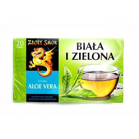 Złoty Smok Herbata biała i zielona o smaku aloe vera marki Biedronka - zdjęcie nr 1 - Bangla