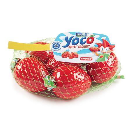 Yoco, jogurt wyciskany o smaku truskawkowym marki Kaszki Nestlé - zdjęcie nr 1 - Bangla